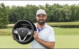 Rhein Gibson battled through a few days of inclement weather to win the BMW Charity Pro-Am last weekend.