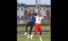 Payton Mangrum made this grab against Wade Hampton last Friday as the Eagles bullied the Generals for a 49-0 victory.