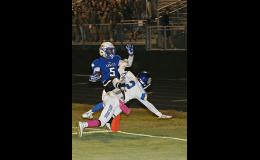 Eastside's Reggie Rodgers found the end zone twice during Eastside's 63-14 thrashing of Travelers Rest last Friday.