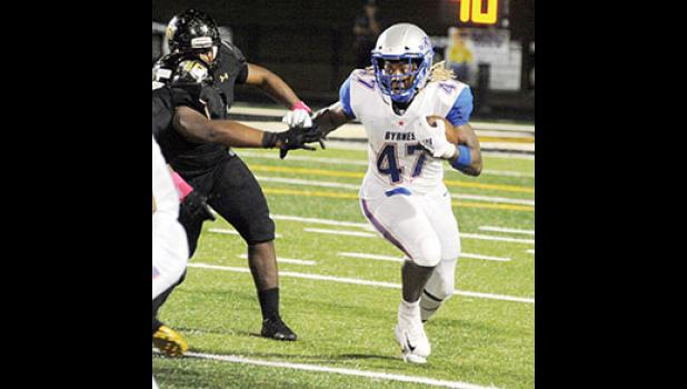 Byrnes running back Rahjai Harris is one of seven finalists for the Mr. Football award in South Carolina. The senior has more than 800 rushing yards and 11 touchdowns on the season.
