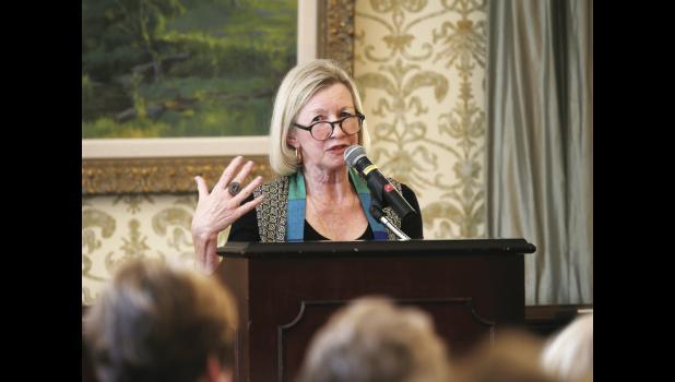 Novelist Cassandra King brought her book tour to Greenville's Poinsett Club recently.