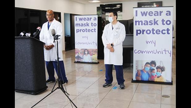 Spartanburg County health officials urged the public to wear masks during a press conference last week.