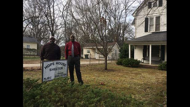 Pastor Steve Watson, left, and Pastor Marvin Miller are seeking the community's help in bringing a local shelter up to code.