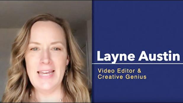 Layne Austin created a video to share some practical advice with local students.