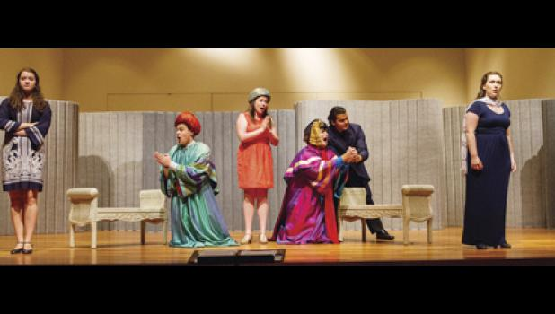 Lisa Louw, far left, was one of 30 people to qualify for the Opera Institute, a pre-professional program, at American University in Washington, D. C.