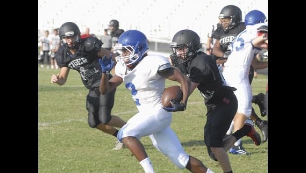 Blue Ridge and Riverside will not meet up in the regular season, but the teams scrimmaged last week after the cancellation of the FCA Jamboree. Both the Warriors and the Tigers will participate in The Ridge Jamboree this weekend.