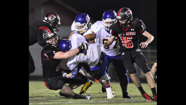 Blue Ridge pummeled Travelers Rest Friday night, putting up 30 points in the first quarter and sealing the victory over a cross-town rival.