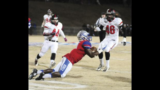 Byrnes quarterback Micah Young tossed five touchdowns during the Rebels' 42-28 win over Boiling Springs.