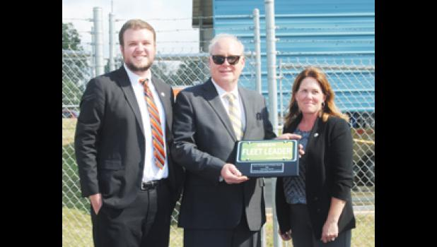 The Greer Commission of Public Works was recently presented with the Green Fleet Leader award, given by the Palmetto State Clean Fuels Coalition.