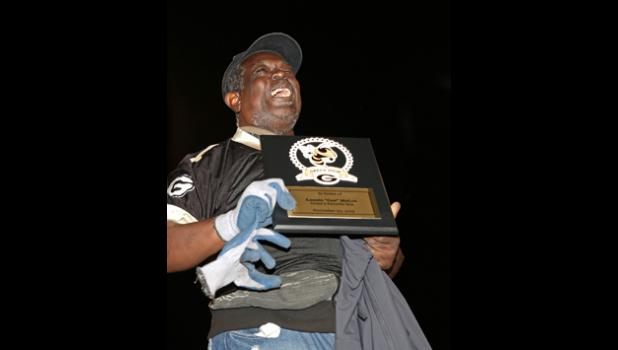 Greer said goodbye to local legend Lonnie 'Gee' McGee at last Friday's Greer High football game. He was presented with a Greer High jersey, a plaque and the key to the city during a pregame ceremony. Gee, who has spent decades attending games, marching with the band and making friends, moved to Clinton on Saturday.