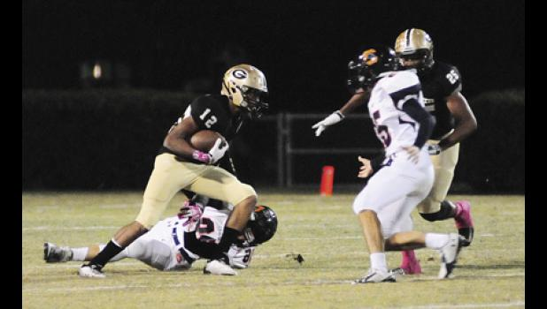 Yellow Jacket wide receiver Dorian Lindsey caught seven passes for 107 yards and a touchdown. He also rushed for 86 yards in Greer's 47-10 blowout win over Chapman.