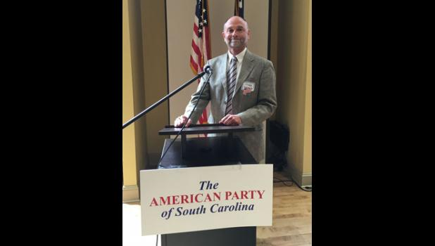Peter Skewes, a Clemson University professor, is currently running for president, representing the American Party.
