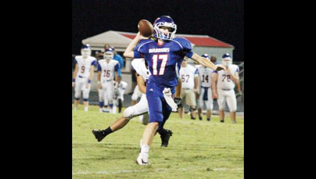 Andrew Brown threw for more than 100 yards and a touchdown during Riverside's win over Travelers Rest last Friday night.