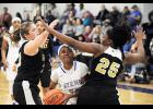 The Byrnes girls basketball team dropped a match-up with Gaffney last Friday at home.