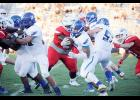 Max Louris led his Eagles to a 49-7 win over rival Riverside last Friday on the road.