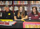 Blue Ridge's Ansley Gilreath signed a national letter of intent to play softball for Winthrop University last Friday.