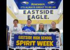 Eastside High seniors Zane Mitchell, Jonathan Michala, Abby Wynn Jackson and Melanie Matters (left to right) advertise the school's Spirit Week. Through numerous programs and the generosity of the community, students hope to raise money for childhood cancer research.