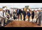 Officials at Greenville-Spartanburg International Airport broke ground on a new, $30 million cargo facility last week.