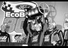 Cole Custer, driver of the #00 Haas Automation Ford, celebrates in Victory Lane after winning the NASCAR XFINITY Series Championship Ford EcoBoost 300 at Homestead-Miami Speedway on November 18, 2017 in Homestead, Florida.