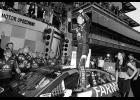 Kasey Kahne, driver of the No. 5 Farmers Insurance Chevrolet, celebrates in Victory Lane after winning the Monster Energy NASCAR Cup Series Brickyard 400 at Indianapolis Motorspeedway on July 23 in Indianapolis, Indiana.