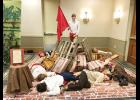 GMC Beta Club members enacted a Living Literature scene that earned the team first place at the recent state convention.