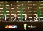 NASCAR officials announced a new brand identity, featuring Monster Energy, at a recent press conference.