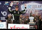 Brad Keselowski, driver of the No. 22 Fitzgerald Glider Kits Ford, celebrates in Victory Lane after winning the NASCAR Xfinity Series DC Solar 200 at ISM Raceway on March 10, 2018 in Avondale, Arizona.