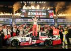 Carl Edwards, driver of the #19 Sport Clips Toyota, celebrates in Victory Lane after winning the rain-shortened NASCAR Sprint Cup Series AAA Texas 500 at Texas Motor Speedway on Nov. 6 in Fort Worth, Texas.