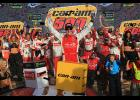 Matt Kenseth, driver of the No. 20 Circle K Toyota, celebrates in victory lane after winning the Monster Energy NASCAR Cup Series Can-Am 500 at Phoenix International Raceway on November 12, 2017 in Avondale, Arizona.