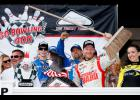 Dale Earnhardt Jr., driver of the No. 88 Michael Baker International Chevrolet, celebrates in Victory Lane with a broom after completing a season sweep last Sunday.