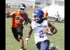 Riverside hosted Southside last Tuesday afternoon during the team's first 7-on-7 game.