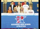 Seven Riverside student athletes signed national letters of intent last week, making their college decisions final.