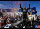 Tony Stewart picked up a NASCAR Sprint Cup win at Dover on Sunday after a last-lap pass of Denny Hamlin.