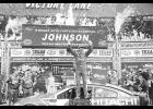 Jimmie Johnson, driver of the #48 Lowe's Chevrolet, celebrates in Victory Lane after winning the Monster Energy NASCAR Cup Series O'Reilly Auto Parts 500 at Texas Motor Speedway on April 9 in Fort Worth, Texas.