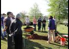 Volunteers from BMW Manufacturing helped plant trees at Skyland Elementary School on Saturday in honor of Earth Day.
