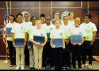 The 'Gamma' Class of the Greer Police Department's Citizen's Youth Academy included, l to r: Andrea Cheeks, Mariazha Parks-Higgins, De'Asia Scott, Tomesha Snoddy-Edens, Kirsten McCollum, Zahkiyrah Booker, McKenyze Williams, Olivia Beason, Katie Styles (front), Elisabeth Fowler, Alexis Fowler, Shannai Volquez and Makayla Finch.