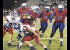 Isaiah Hill rushed for a score during Byrnes' win on Friday night at Nixon Field. The Rebels are now 3-0 in region play.