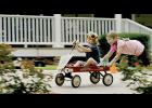 "Faith Renee Kennedy, who stars as Gracie Weathers in the movie ""Champion,"" pushes Maddox Robinson on a wagon."