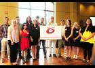 The Greater Greer Education Foundation presented 13 scholarships of $1,000 to local students last week. Thos pictured, left to right, are: Evan Rice, Maddy Moreland, Nicolas Antonio Lozano, Emily Cueva, Michael Stoxen, Jenna Self, Chase Taylor, Phillip Rainey, Will Taylor, Royal Hilly, Kyra Jones, Cameron Crow and Lisa Nguyen.
