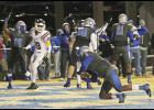 Byrnes quarterback Micah Young dove into the end zone for the Rebel's final touchdown, sealing a 37-36 win over Northwestern last Friday night. The score was capped with a game-winning two-point conversion.