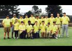 Head coach Rob Gravley and the Greer High golf team have earned six wins this season.