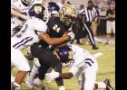 Adrian McGee was dominant for the Yellow Jackets last Friday night against Emerald, scoring several times and recording three key tackles to help Greer seal its first region win of the season.