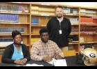Greer offensive lineman Tyreek Donaldson signed a national letter of intent with Fairmont State University last Tuesday.