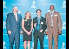 Greer High student Jhonny Mauricio Villamil (third from left) was among six South Carolina high school students to receive Better Business Bureau scholarships recently.