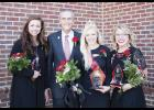 Stevie Martin was named 2016 North Greenville University Homecoming Queen recently. Pictured, left to right: first runner-up Candace Petit; NGU Interim President Dr. Randall Pannell; Martin; second runner-up Macy McDonald.