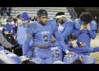 The Rebels gathered for a team prayer after falling to Dorman last Friday night during the Upper State championship game. This is the fourth-straight year Byrnes has been ousted in the semifinals.