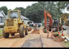 The Town of Lyman is currently in the process of replacing old sewer lines.