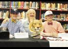 Brandon Southern, left, and Elijah Henderson, far right, signed national letters of intent last week at Blue Ridge High School.