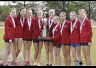 For the third straight year, the Riverside girls cross country team took home state, scoring 120 points in the  final meet.